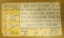 1987 PINK FLOYD TORONTO CANADA CONCERT TICKET STUB MOMENTARY LAPSE OF REASON
