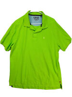Izod Heritage Polo Shirt Cotton Lime Green Size XL