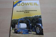128283) Göweil Rundballen Wickelmaschine G 5010 Prospekt 200?