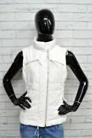 Piumino Bianco Donna BENETTON Taglia M Jacket Woman White Giubbotto Piuma D'oca