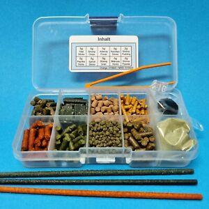 Futter-Proben-Set / Sticks, Shrimp Pudding, Powder, Lollies / Garnelen Aquarium