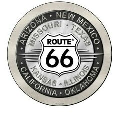 """Route 66 All States Novelty Metal Circular Sign 12"""""""