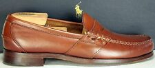Ralph Lauren Mens Loafers sz 9 D Shoes Admiralty Full Strap Moc Penny