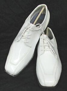 New White Jean Yves Cosmopolitan Tuxedo Shoes Halloween Costume Damaged Discount