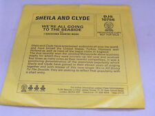 """SHEILA & CLYDE We're All Going To The Seaside Ex+ '77 Promo P/S 7"""""""