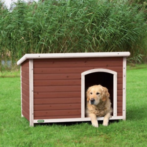 ✔Heritage Deluxe Large Wooden Dog Kennel Pet House Garden Timber Shelter Puppy✔