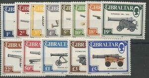 Gibraltar SG567-581 1987 Gun Definitives U/M
