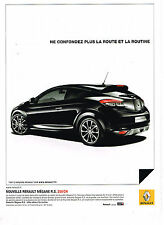 PUBLICITE ADVERTISING 094  2010  RENAULT MEGANE  R.S 250CV
