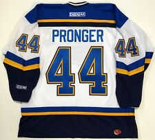 CHRIS PRONGER ST. LOUIS BLUES 1999 MVP CCM JERSEY XL ORIGINAL WHITE