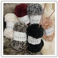 Sirdar ALPINE Luxe Fur Effect Super Soft Fluffy Super Chunky Knitting Yarn 50g