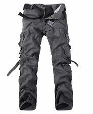 Combat Mens Cotton ARMY Cargo Pants Military Camouflage Work Camo Trousers 40