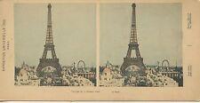 STEREOSCOPIE Stereoview EXPOSITION UNIVERSELLE PARIS 1900 LA TOUR EIFFEL