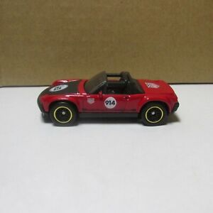 DIECAST HOT WHEELS PORSCHE 914-6 WITH REAL RIDERS RUBBER TIRES