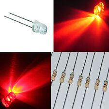 1.000 diodi led 5 mm ROSSO alta luminosità + 1000 RESISTENZE OMAGGIO