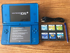 Nintendo DSi XL Blue Handheld System Console Bundle +6 Games & Charger