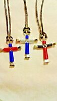 Horseshoe wired nail cross w/ various color's