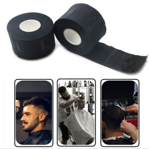 Black Disposable Stretchy Neck Paper Strips For Barber Hairdressing Hair Cutting