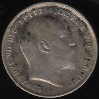 1909 Edward VII Silver Threepence Coin | British Coins | Pennies2Pounds