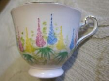 Vtg Samuel Radford's crown Fenton bone china tea cup, foxglove floral pattern