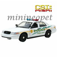 GREENLIGHT 13514 CSI MIAMI 2003 FORD CROWN VICTORIA INTERCEPTOR POLICE CAR 1/18