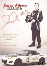 2014 Jason Cherry signed Jason Cherry Racing Mazda MX5 Miata SCCA PWC postcard