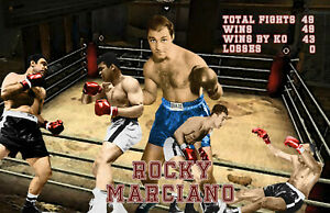 Lithograph print of Rocky Marciano