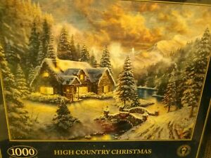 BRAND NEW Gibsons Thomas Kinkade - High Country Christmas - 1000 Piece Puzzle