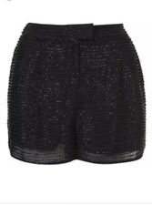 TopShop ❤️ Beads Black Shorts Size 10 #41