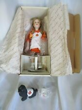 "Vintage Danbury Mint Doll Norman Rockwell Porcelin Red Cross Volunteer 12"" Nib"
