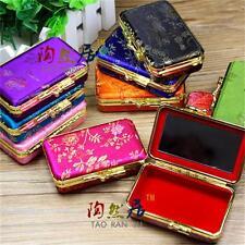 Wholesale12pcs Chinese Classic Handmade Silk Double Lipstick&Jewelry Mirror Box