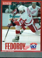 SERGEI FEDOROV The Detroit News DETROIT RED WINGS 8x10 Collector Card!