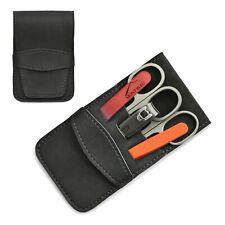 Mont Bleu 5-piece Manicure Set & Glass Nail File in Eco-Leather Case GNU GREY