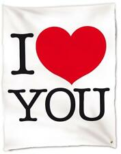 Caldo Plaid Coperta in Pile San Valentino I Love You *03171