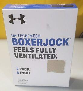 """Men's Under Armour Tech Mesh BoxerJock 2 Pack 6""""...Medium..Blue #1330637-400"""