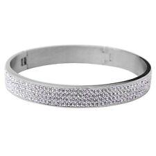 Modeschmuck-Armbänder aus Edelstahl mit Kristall