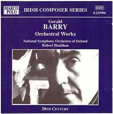 GERALD BARRY Orchestral Works CD National Symph Orch of Ireland, Robert Houlihan