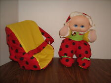 Playskool Doll 1997 My Little Ladybug with Carrier Nylon Plush Great Shape