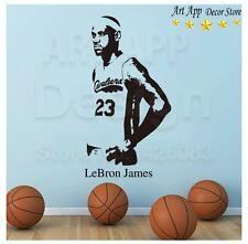 Wall Sticker NBA James Basketball Player Vinyl Wallpaper Sport Home Decor Poster
