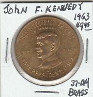 (Y) Token - John Fitzgerald Kennedy - 35th President - 1963 - 37 MM Brass
