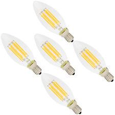 5er E14 Led Lampe 6W Filament Gluehfaden Birne Lampe Kerzenform 2700K 420 Lumen