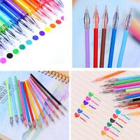12Pcs Diamond Gel Pen School Supplies Draw Colored Refills Student Candy Color