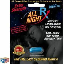 12 LOT MALE ENHANCEMENT LIBIDO SEX PILL All Night Rx FAST ACTING LAST 72 HOURS!