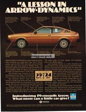 1976 Plymouth Arrow 200 Brown Vtg Print Ad