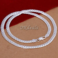 """5MM 925 Sterling silver plated Necklace Chain 20"""" inch Fashion Men Women Best"""