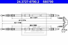 Seilzug, Feststellbremse für Bremsanlage Hinterachse ATE 24.3727-0790.2