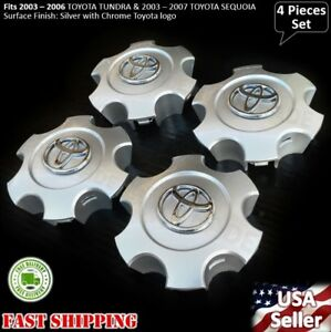 New 4pcs TOYOTA TUNDRA 2003 2004 2005 2006 WHEEL CENTER HUB CAP SILVER 560-6944