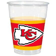 Kansas City Chiefs NFL Football Sports Banquet Party 16 oz. Clear Plastic Cups