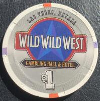 $1 Wild Wild West Gambling Hall & Hotel Casino Chip - Las Vegas NV - Paulson H&C