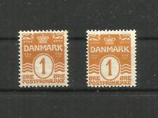Dinamarca, 1905,1914, Mi. 42, 47, MNH**