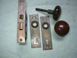 One antique victorian door lockset